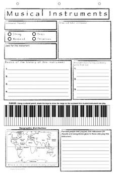 Musical Insruments Research Template