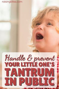 How to prevent and handle toddler tantrums in public. He's screaming, people are staring. How you do stop a meltdown and keep your child and yourself calm? He's angry, stubborn, out of control, and has big feelings. You're worried, stressed, and embarrassed. Ideas on how to help your child calm down. Whether he's 1, 2, 3, 4 year old or older, the tips in this article will work for kids any age. This motherhood and parenting post hits the spot. raisingbliss.com Teaching Boys, Overwhelmed Mom, Bad Mom, Quotes About Motherhood, Happy Mom, Parenting Ideas, Mom Advice, Newborn Care, Zombie Apocalypse