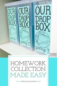 I love this approach to homework collection for the elementary classroom. These homework drop boxes save time, keep papers organized, and make it easy for me to see who hasnt turned in homework. My students independently submit their homework each mornin Classroom Layout, Classroom Jobs, Classroom Environment, Future Classroom, Classroom Activities, Classroom Management, Class Management, Classroom Organization Labels, Homework Organization