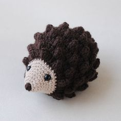 Hedgehog Stuffed Animal, Hand Crocheted Gender Neutral Toy, Simple Toy
