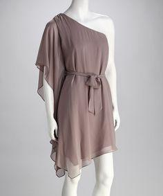 moonbeam asymmetrical belted dress