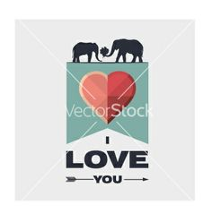 I love you vector - by johnnyflow on VectorStock®