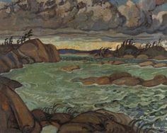 Authur LIsmer Rain in the North Country 1924 Group Of Seven Art, Group Of Seven Paintings, Canadian Painters, Canadian Artists, Emily Carr Paintings, Art Inuit, Tom Thomson Paintings, Most Famous Artists, Impressionist Landscape