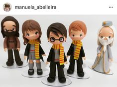 Harry Potter Figures - Handmade with Polymer Clay Harry Potter Draco Malfoy, Harry Potter Cake, Harry Potter Decor, Harry Potter Actors, Polymer Clay Figures, Polymer Clay Crafts, Diy Ooak Doll, Gateau Harry Potter, Anniversaire Harry Potter