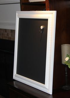large ornate magnetic white framed chalkboard 22 34 by poshpilfer