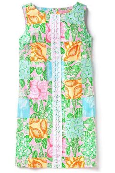 9eab934f6ae69 Lilly Pulitzer Originals What the Shell Shift Dress 8 Seashells Eco Friendly