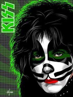 Peter I Love It Loud, Kiss Me Love, Paul Stanley, Gene Simmons, Rock Posters, Concert Posters, Kiss Rock, Eric Singer, Peter Criss