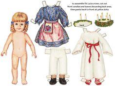 Lucia paper dolls