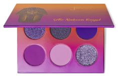 The Nubian Glow Gift Set – Juvia's Place Matte Medium, Lilac, Purple, Blue Pearl, Cool Tones, Pink Glitter, Iridescent, Indie Makeup, Glow Palette