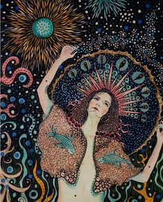 Moondance by Daria Hlazatova Illustrations, Illustration Art, Art Sketches, Art Drawings, Psychedelic Art, Aesthetic Art, Art Inspo, Art Reference, Fantasy Art