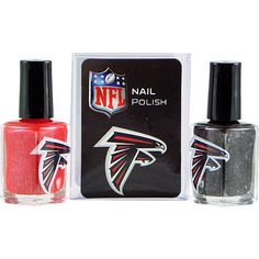 Get gameday ready with this custom red and silver nail polish!