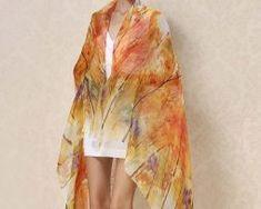 Exkluzívny veľký hodvábny šál v jesenných farbách1 Tie Dye, Women, Fashion, Moda, Women's, La Mode, Tye Dye, Fasion, Fashion Models