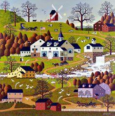 "Charles Wysocki - ""Windmill"""