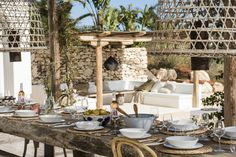 Summer lunch in Ibiza in one of our most beautiful villas