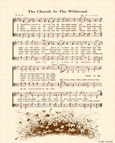the church in the wildwood lyrics | The Church In The Wildwood - Christian Heritage Hymn, Sheet Music ...