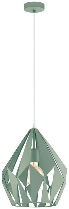 Moderne Hängeleuchte fürs Esszimmer in mintgrün