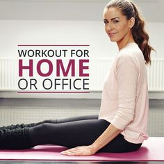 Workout for Home or Office... love this workout because you can do it no matter where you are!! #homeworkout #deskworkout