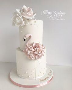 Flamingo blush pink pearls birthday cake Celebration Cakes, Birthday Celebration, Wedding Cake Designs, Wedding Cakes, Pearl Cake, Luxury Cake, 30 Birthday Cake, Sugar Cake, Dream Cake