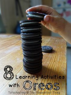 8 learning activities with Oreos! - yummy way to learn!