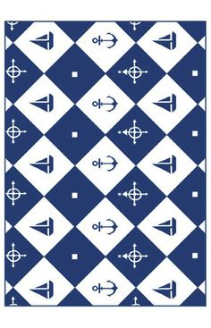 Homefires Rugs Play Time Nautica Navy Rug For mom