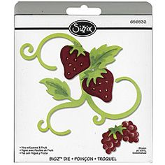 @Overstock - This Bigz die from Sizzix cleanly cuts thick materials including cardstock, chipboard, fabric, foam, magnets, leather, metallic foils, paper and much more. This cutting die offers you more design options with a wider size.http://www.overstock.com/Crafts-Sewing/Sizzix-Vine-with-Leaves-Fruit-Bigz-Die/5187106/product.html?CID=214117 $18.99