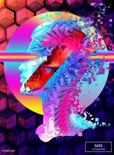 20-DROGAS-20-DIAS-14 metoxetamina . . Brian Pollet, quien se apoda en redes sociales como Pixel-Pusha, quiso probar sus límites artísticos, por lo que tuvo la ocurrencia explotar hasta el último gramo de un cerebro bajo el influjo de estas drogas.