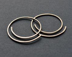 Earrings. Modern Contemporary Simple Sleek Elegant Design. Sterling Silver Jewelry. Handmade by Epheriell on Etsy. Half-Spiral.. $25.00, via Etsy.