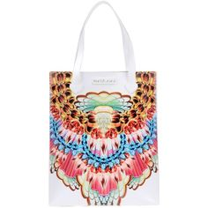 Manish Arora Handbag ($275) ❤ liked on Polyvore featuring bags, handbags, white, purse bag, handbags purses, white bags, colorful purses and multicolor handbags