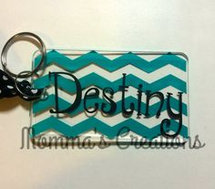 Key chain, luggage tag, backpack tag, personalize with favorite colors and name. Perfect stocking stuffer, team gifts and many more