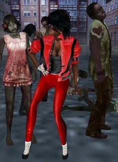Michael jackson with zombie