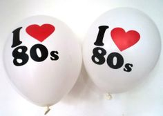 80s Party Decorations - 10 x 'I love 80s' Balloons by 80s Material Girl, http://www.amazon.co.uk/dp/B00HZRI0CG/ref=cm_sw_r_pi_dp_miohtb1HBJEYB