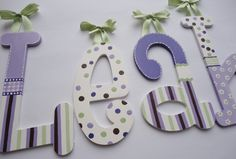 For Baby Girl's room, love this to do for either boy or girl just with different paint. So wanna do this!