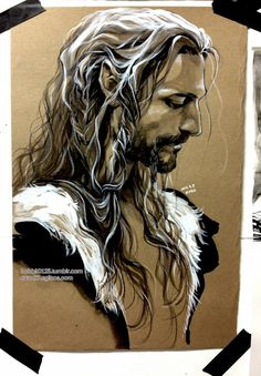 """""""Fili with his hair undone"""" by evank7 on Tumblr"""