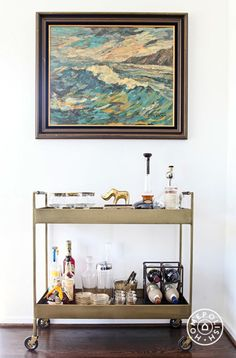 Every great home has a well styled bar cart...