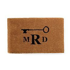 Personalized Doormat, Monogrammed, Key, Black