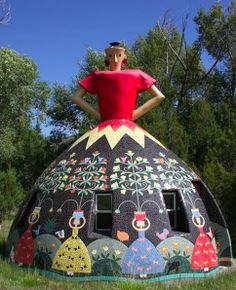 18-foot tall house by artist Bev Magennis located in remote Apache Creek, New Mexico