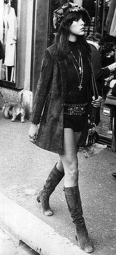Hippie, moda años 70.
