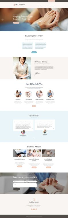 Cloe Brooks is a WordPress theme intended for psychology firms, psychological clinics and individual psychologists who whish to make an impressive internet presentation. The theme's business design is also perfect for any corporate website.