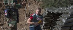 Daniel Craig the United Nations Global Advocate for the Elimination of Mines and Explosive Hazards at the Firing line of an active minefield in Cyprus. UNMAS/Lee Woodyear