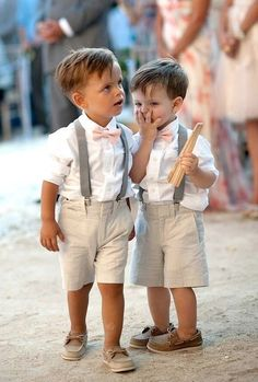 handsome beach wedding pageboys in matching outfits - brides of adelaide