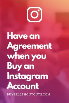 Before any exchange of cash or other forms of payment has been made, there needs to be a contract in place. Buy Instagram Accounts, Instagram Tips, Social Media Icons, Social Media Tips, Twitter Tips, Competitor Analysis, Time Management Tips, Frugal Tips, Work From Home Moms