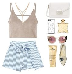 """""""Paris in Summer"""" by itsmytimetoshinecoco ❤ liked on Polyvore featuring Quay, Loeffler Randall, Chicnova Fashion, Nuxe, Nicholas Kirkwood and Hermès"""