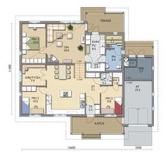 Rinne 135 LY - Kastelli Humble Abode, Future House, House Plans, Floor Plans, Flooring, How To Plan, Dream Houses, Interior, Sims
