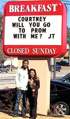 Before the prom … the promposal Creative With #Promposals prom proposal ideas #promposal ideas for girls