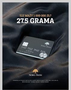 MasterCard® World Signia™ Noble Bank by Wojciech Portnicki, via Behance