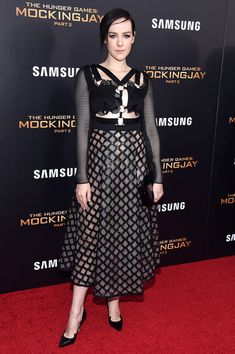 """Jena Malone attends """"The Hunger Games: Mockingjay- Part 2"""" New York Premiere at AMC Loews Lincoln Square 13 theater on November 18, 2015 in New York City."""