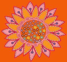 floral,orange