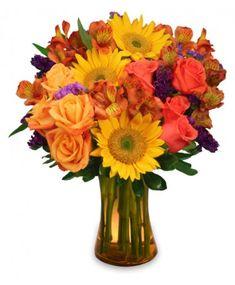 SUNFLOWER SAMPLER Arrangement http://www.leadingfloral.com/product/va08512/sunflower-sampler