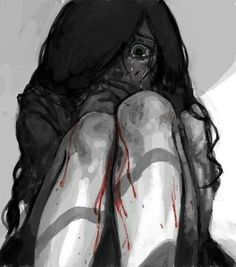 Image via We Heart It https://weheartit.com/entry/151876426/via/29585671 #blackandwhite #depressed #drawing