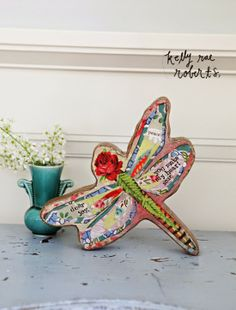 NEW Art Blocks!  A dragonfly with a joyful message.